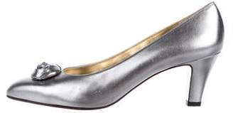 Salvatore Ferragamo Metallic Pointed-Toe Pumps