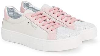 Simonetta embellished contrast panel sneakers