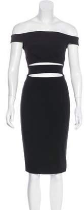 Nicholas Off-The-Shoulder Mini Dress