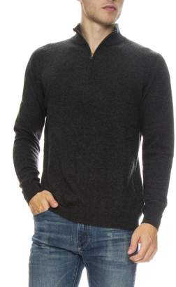 TODAY IS BEAUTIFUL \/ RON HERMAN Cashmere Sweater With Zip Mock Neck