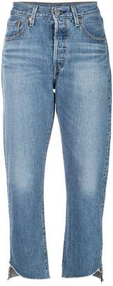 Levi's cropped straight jeans