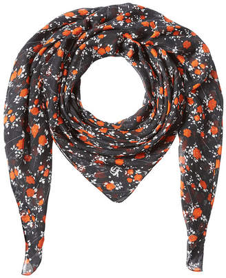 The Kooples Printed Scarf with Silk