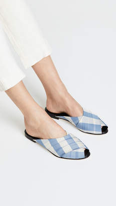 Trademark Gingham Wrapped Pajama Sandals