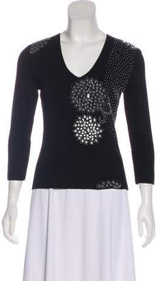Cyrus Beaded Knit Top