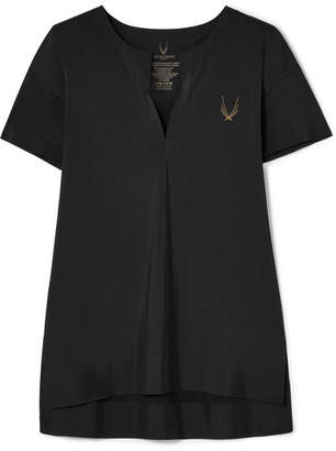 Lucas Hugh Hybrid Stretch-knit Top - Black