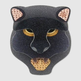 Gucci Resin panther head brooch