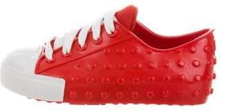 Mini Melissa Girls' Round Toe Textured Sneakers