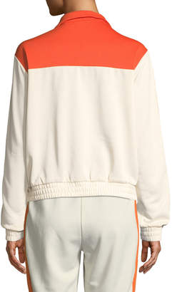 Juicy Couture Tricot Striped Pullover Track Jacket