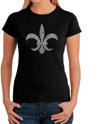 Women's Word Art Louisiana T-Shirt in Black $19.99 thestylecure.com