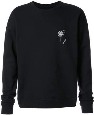 The Elder Statesman palm tree embroidered sweatshirt