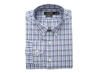 Lauren Ralph Lauren Slim Fit No-Iron Plaid Cotton Dress Shirt