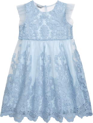 Pippa & Julie Embroidered Mesh Fit & Flare Dress