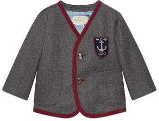Gucci Baby wool coat with crest