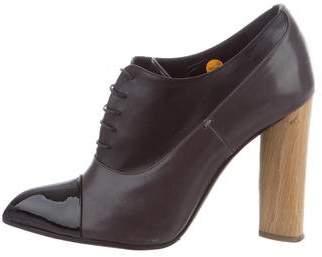 Saint Laurent Leather Oxford Booties