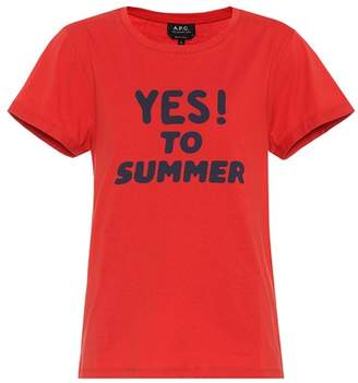 A.P.C. Yes To Summer cotton T-shirt