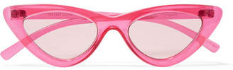Le Specs Adam Selman The Last Lolita Cat-eye Acetate Sunglasses - Pink