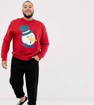 Jack and Jones Originals Plus Size Holidays Sweatshirt With Graphic Print