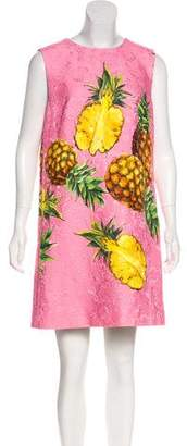 Dolce & Gabbana 2017 Sleeveless Pineapple Dress w/ Tags