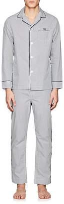 Maison Marcy Men's Geometric-Print Cotton Pajama Set