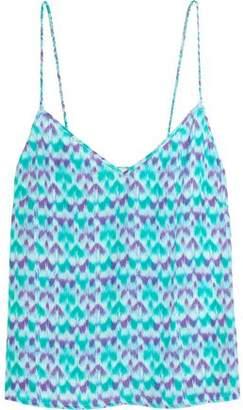 Paloma Blue Capri Printed Silk-Satin Camisole