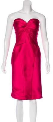 Zac Posen Satin Evening Dress