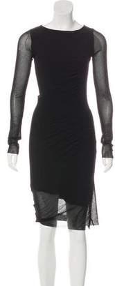 Jean Paul Gaultier Long Sleeve Midi Dress