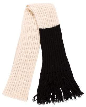 Christian Dior 2006 Two-Tone Wool Fringe Scarf