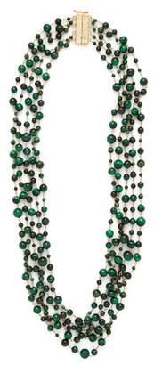 Rosantica By Michela Panero - Pegaso Beaded Quartz Necklace - Womens - Green Multi