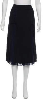 Karl Lagerfeld by Pleated Knee-Length Skirt
