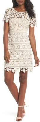 Eliza J Crochet Overlay Dress