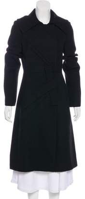 Christian Dior Pleat-Accented Long Coat w/ Tags