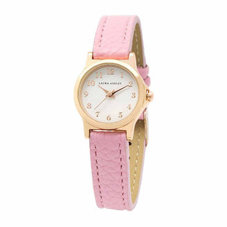 Laura Ashley Petite Band Womens Pink Strap Watch-La31028pk $295 thestylecure.com