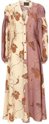 Loewe x Paula's Ibiza Printed Peasant Shirt Dress