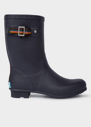 Paul Smith Men's Navy Rubber 'Krupa' Wellington Boots