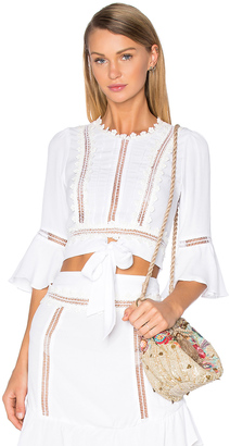 For Love & Lemons Willow Crop Top $167 thestylecure.com