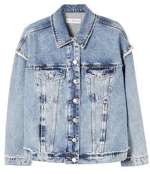 MANGO Frayed edges jacket