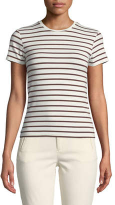 ATM Anthony Thomas Melillo Striped Short-Sleeve Cotton Baby Tee