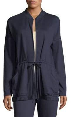 Natori Natori Women's Zen Loungewear Topper - Navy - Size Large