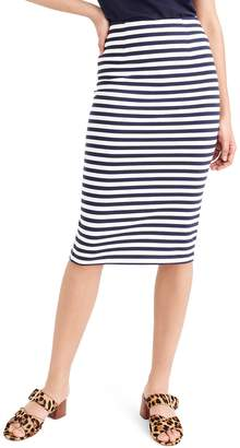 70d7cc7e20b0 J.Crew Stripe Knit Pencil Skirt