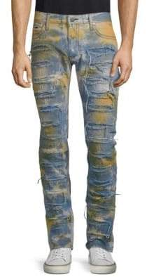 Cotton Bleached Distressed Jeans