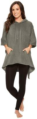 Lauren Ralph Lauren Soft Stretch Microfleece Hooded Poncho Women's Clothing