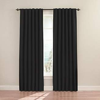 Eclipse Curtains Eclipse 11353052095BLK Fresno 52-Inch by 95-Inch Blackout Single Window Curtain Panel