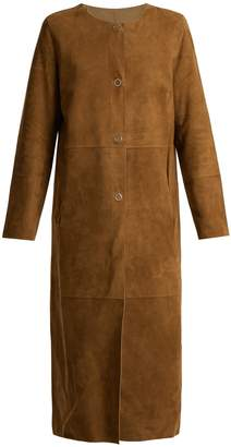 Yves Salomon Reversible collarless leather coat
