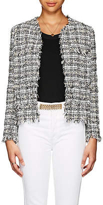 Barneys New York Women's Cotton-Blend Tweed Jacket - Black