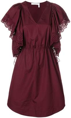 See by Chloe lace trim mini dress