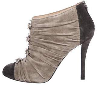 Chanel Camellia Suede Booties
