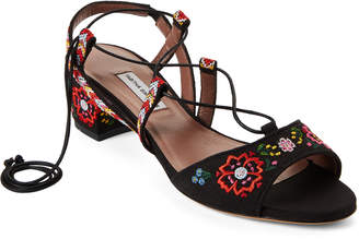 Tabitha Simmons Lori Festival Embroidered Lace-Up Sandals