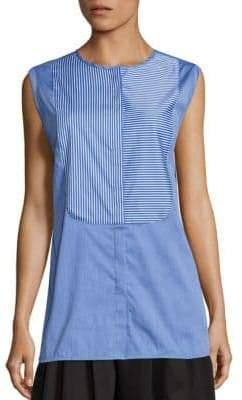 Tome Cotton Striped Bib Shirt