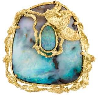18K Opal Brooch Pendant