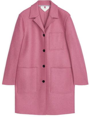 Arket Jersey Wool Coat